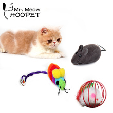 Cat Toys Mouse Colorful Funny Playing Toys For Cats Play Bell Toy Mouse Ball Mouse Emulation Sound Pet Toy(China)