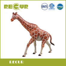 Recur Toys 25X22 cm Giraffa Figures Hand Painted Soft PVC Whild Animal Model Action Toys Gift Collection For Kid Early Education