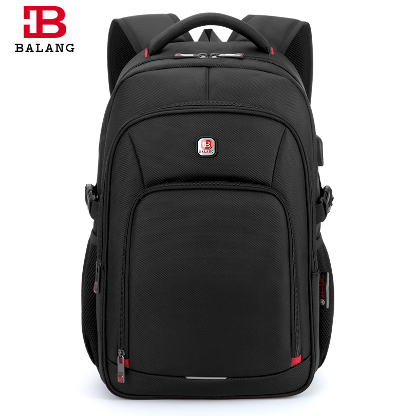 BALANG Brand 2018 New Mens 15.6 Laptop Backpacks External USB Charge Antitheft Bags Unisex Casual School Backpack for Teenagers<br>
