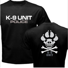 K-9 Special Unit Police Dog Foot Canine Men's Graphic Casual Shirts New Summer Top Short Sleeve 100% Cotton Print Tee Shirt