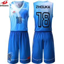 Sublimation Printing Blue White Any Color Basketball Clothing Basketball Uniform Jersey Short Custom