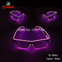 NEW Fashion 10 Colors Flashing EL Wire Led Glasses Luminous Party Decorative Lighting Classic Gift Bright Light Festival Gift