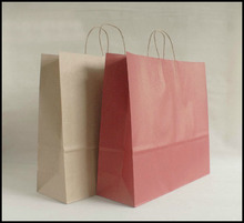 20pcs/lot Large 44cm*40cm*14.5cm kraft paper gift bag, , Festival gift bags, Paper bag with handles, wholesale