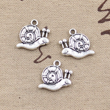99Cents 4pcs Charms garden snail 16*18mm Antique Making pendant fit,Vintage Tibetan Silver,DIY bracelet necklace(China)