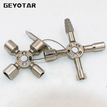 10 In 1 Multi-function Electric Control Cabinet Triangle Key Ratchet Wrench Elevator Door Valve Cross2017 Rushed New Arrival(China)