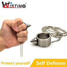 Self Defense Ring Tool Defensive Finger Ring Gear Life Survival Self Defense Emergency Rescue Self Tool Women Wistino