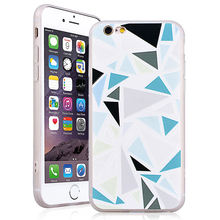 Mixed Color Case For Iphone 6/6s/6 plus/6s plus/7/7 Plus Geometric Composition Pattern Soft TPU Rubber Silicone Shell Back Cover(China)