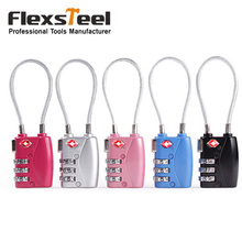 5 Pieces High Safety 3 Digit TSA Luggage Lock Combination Code Ivation Suitcase Trunk Padlocks Pad Locks for Travel