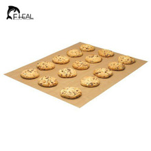 FHEAL Cake Mat For Baking Oven Tool Tarpaulin Special High Temperature Resistant Teflon Non-stick Linoleum(China)