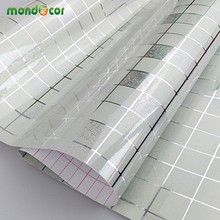 0.45mX5m Kitchen Mosaic Tile Wall covering Home Decor Wall stickers roll wallpaper furniture paper self adhesive film wardrobe(China)