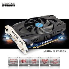 Yeston Radeon R7 350 GPU 4GB GDDR5 128bit Gaming Desktop computer PC Video Graphics Cards support for VGA/DVI/HDMI PCI-E X16 3.0(China)
