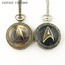 FANTASY UNIVERSE Freeshipping wholesale 20pc a lot Star trek pocket Watch necklace Dia4.7mm HRSYYT71