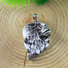 GraceAngie 10pcs Antique Silver Pendant Withered Leaves Shape Charms Jewelry Finding Necklace CellPhone Accessory 24*13*5mm(China)