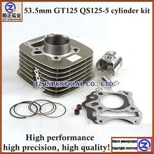 High performance good quality 125CC motorcycle engine parts 53.5mm QS125-5 GT125 cylinder kit
