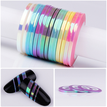 3Pcs Nail Striping Tape Line Mermaid Candy Color Adhesive Sticker Decals DIY Nail Art Tool Manicure Decoration 1mm 2mm 3mm