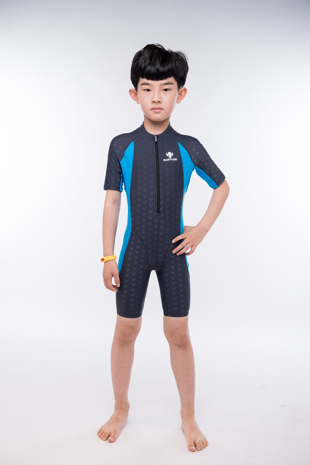Boys One Piece Nylon Professional Swimwear Sports Pool Training Body Suit Kids Spandex Sport Outdoor Racing Bathing Beach Wear<br>