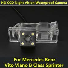 For Mercedes Benz B Class Vito Viano Sprinter Car CCD 4 LED Night Vision Backup Rear View Camera Parking Assistance Waterproof(China)