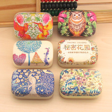LIUSVENTINA cute Secret Garden letter Peacock Owl Dandelion companion box leather box contact lens case lenses container