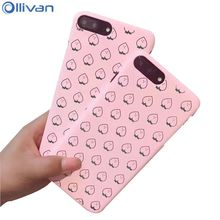 Ollivan juicy peach cases for iphone 8 8plus matte PC Hard back cover case for iphone 6 6s plus coque for iphone 7 7plus case(China)