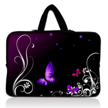 New Butterfly Neoprene 17 17.3 17.4 Inch Laptop Sleeve Bag Handle Bag Netbook Inner Pouch Computer PC bag For Dell Hp Acer Asus