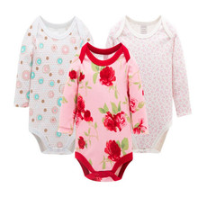Top Quality 3pcs/lot New Newborn Clothes Baby Romper Long Sleeve Baby Product Next Girl Body Winter Baby Romper Kids Rompers