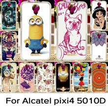 Soft Silicon TPU Phone Cover Case For Alcatel OneTouch Pixi 4 5'' OT-5010 5010D 5010X 3G Version One Touch Pixi4 (5) Cases cover
