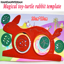 NEW! 2017 Classic Novelty Specially Spirograph Magic Turtle Rabbit Drawing Board Kids Educational Practical puzzle Toy(China)