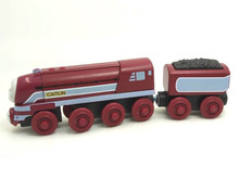 RARE NEW CAITLIN & TRUCK Original Thomas And Friends Wooden Magnetic Railway Model Train Engine Boy / Kids Toy Christmas Gift(China)