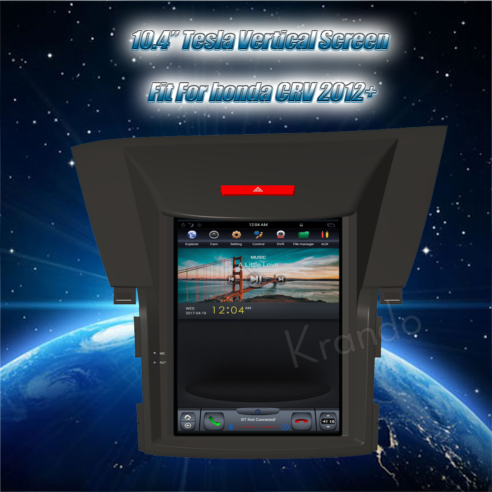 Krando Vertical screen android car radio multimedia for honda CRV 2012+ screen navigation with gps system
