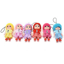 1pcs 8cm Cartoon Movie Plush Dolls Pendant For Mobile phone Straps random Color