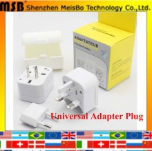 Universal US UK EU Converter Adaptor  6A CE certification ac electrical Power International travel Adapter plug