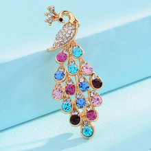 Lovely Shining Crystal Peacock Brooch Pins For Women charming Jewelry Fashion Wedding Party Invitation Bijoux Broche Femme