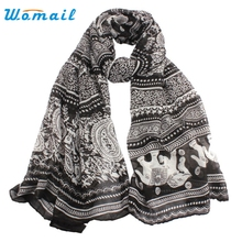 Womail Good Deal New Women Ladies Scarves Neck Stole Elephant Print Long Scarf Shawl Wrap Gift 1PC