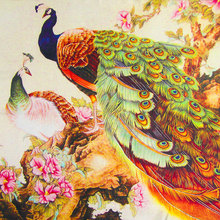 100% Silk Scarf Women Scarf Peacock Silk Shawl 2017 Designer Scarf  Female Silk Pashmina Long Thick Silk Wrap Luxury Lady Gift
