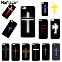 MaiYaCa christian cross Jesus Transparent TPU Soft Cell Phone accessories case Cover For iPhone 4s 5s 6s 7 7plus case(China)