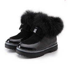 Hot sale Explosion models Winter Child Leather Snow Boots For Girls Boys Warm Martin Boots Casual Plush Child Baby Toddler Shoes(China)