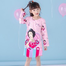 Buy Big Girl Nightdress New 2017 Autumn Winter Fashion Princess Cartoon Long Kids SleepDress Cotton Children Nightgowns Girl Gift for $4.98 in AliExpress store