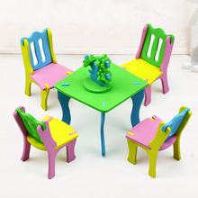 New DIY Children EVA Handmade Creative Furniture 3D Model Puzzles Kindergarten Building Game Baby Kids Educational Toys Gifts