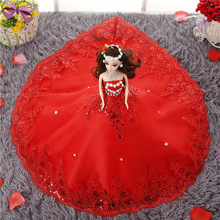 Baby Girls Gift Dolls Toys & Wedding Gifts With Wedding Dress Doll Red White Fantacy Doll Birthday Kids Ladies' Christmas Gift