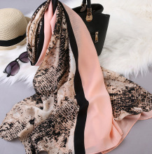 Leopard Print Scarf Long Soft All-match High Quality Chiffon Pashmina Hot Sale Women Spring Summer Fall