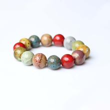 Traditional Boondoggle Hand Woven Ceramic Bracelets Beads Simple Folk Style Women's Jewelry Wholesale Free Shipping 00926(China)