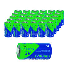 30Pcs 3V Lithium MnO2 battery CR123A CR 123 123A 16340 CR17345 17345 1500mAh primary single use batteries for Eletronic Lock(China)