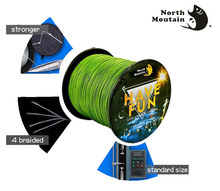 4 Strand Weaves High-Quality Series HAVE FUN Dyneema Fishing Lines PE Braided Fishing Line 500m(China)