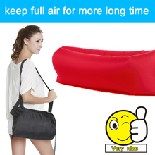 2017 outdoor Rapid inflatable portable air beach bed Camping Sofa banana bean bag sleeping bags beach adult air sofa