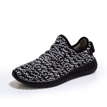 Plus Size 35-47 Brand Men and Women 2017 Breathable Cheap Running Shoes Outdoor Athletic Yeezy Shoes  Sport Sneakers black blue
