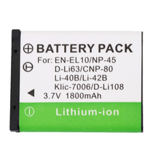 1PCS High quality EN-EL10 EN EL10 LI-42B Li-40B LI42B Li 42B 40B Camera Battery for OLYMPUS U700 U710 FE230 FE340 FE290 FE360