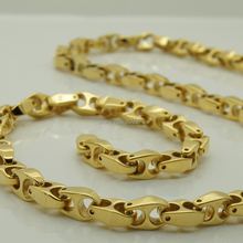 vary length 14''-40'' 6mm width unique gold plating classic design bike chain women hi-tech tungsten necklaces & pendants(China)