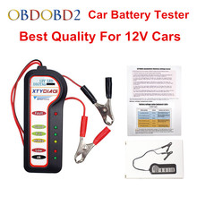 Best Quality 12V Car Battery Tester with 6 LED Lights For 12V Car Motorcycle Auto Voltage Tester Battery Analyzer Free Shipping