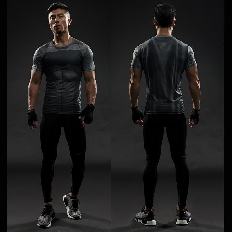 Short Sleeve 3D T Shirt Men T-Shirt Male Crossfit Tee Captain America Superman tshirt Men Fitness Compression Shirt Punisher MMA 27