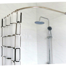 Stainless Steel Curved Shower Curtain Pole Rod Rail Bathroom Products  BATH Accessories Supplies PLUS SIZE